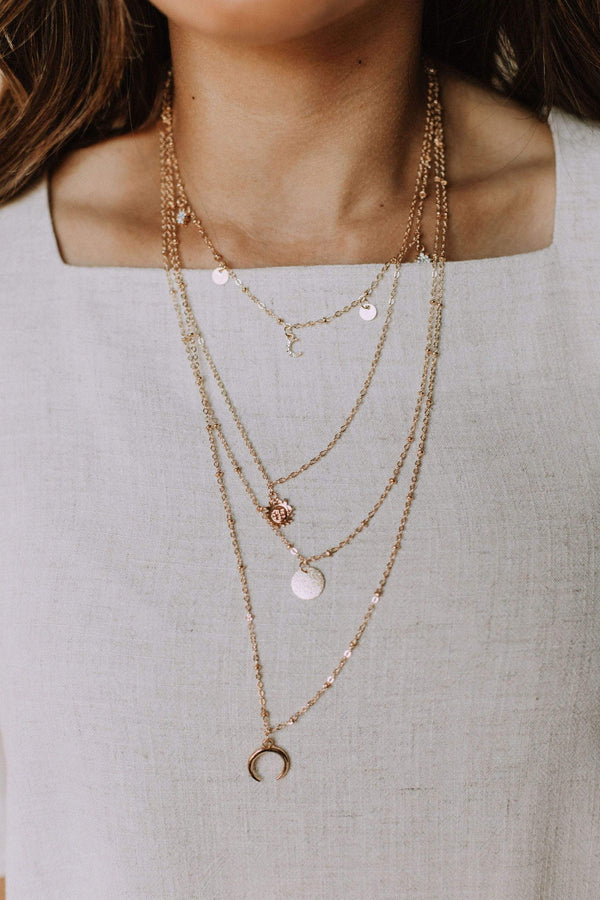 Accessories Hex Layered Necklace