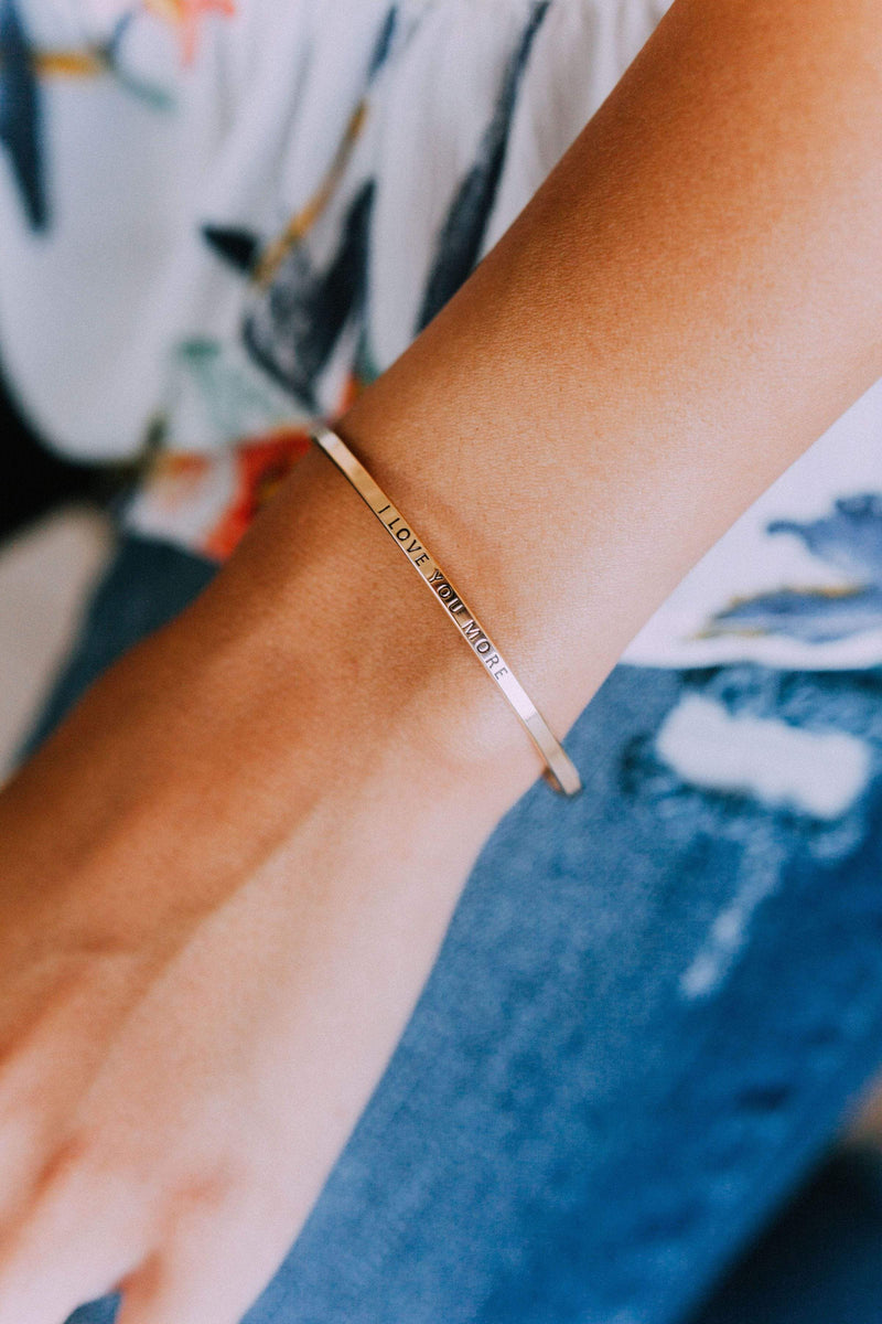 Accessories I Love You More Bangle Bracelet Gold
