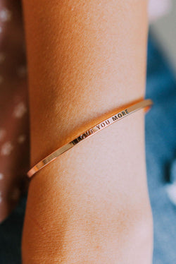 Accessories I Love You More Bangle Bracelet Rose Gold