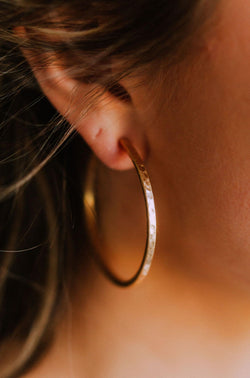 Accessories Influencer Hammered Hoop Earrings Gold