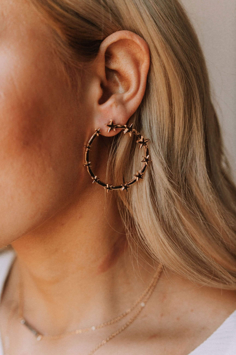 Accessories Luna Star Hoop Earrings