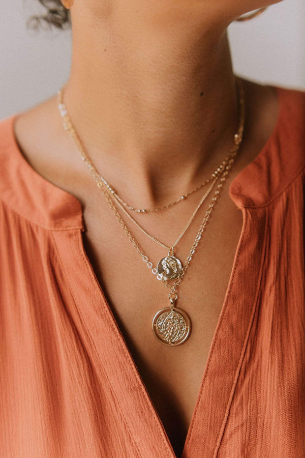 Accessories Pandora Coin Layered Necklace