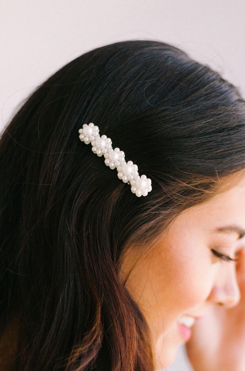 Accessories Pearl Floral Hair Clip
