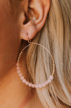 Accessories Peitha Beaded Hoops Blush