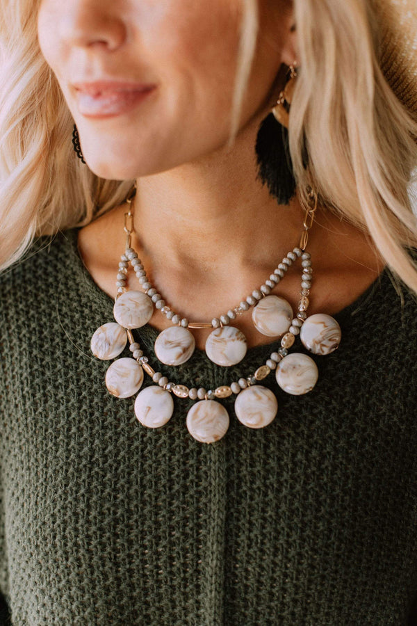 Accessories Polished Necklace Grey