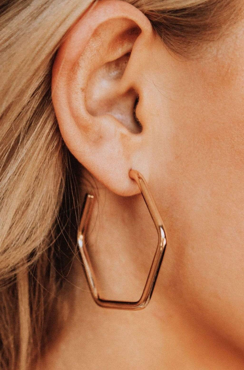 Accessories Rhea Hexagon Hoops