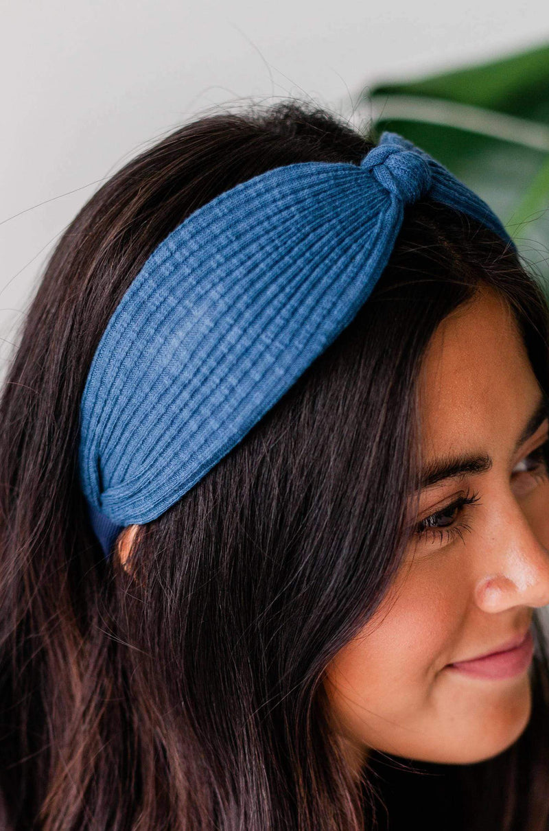 Accessories Ribbed Headband Blue