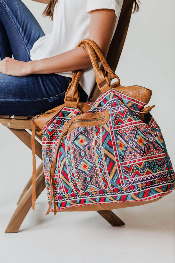 Accessories Traveler Boho Embroidered Bag