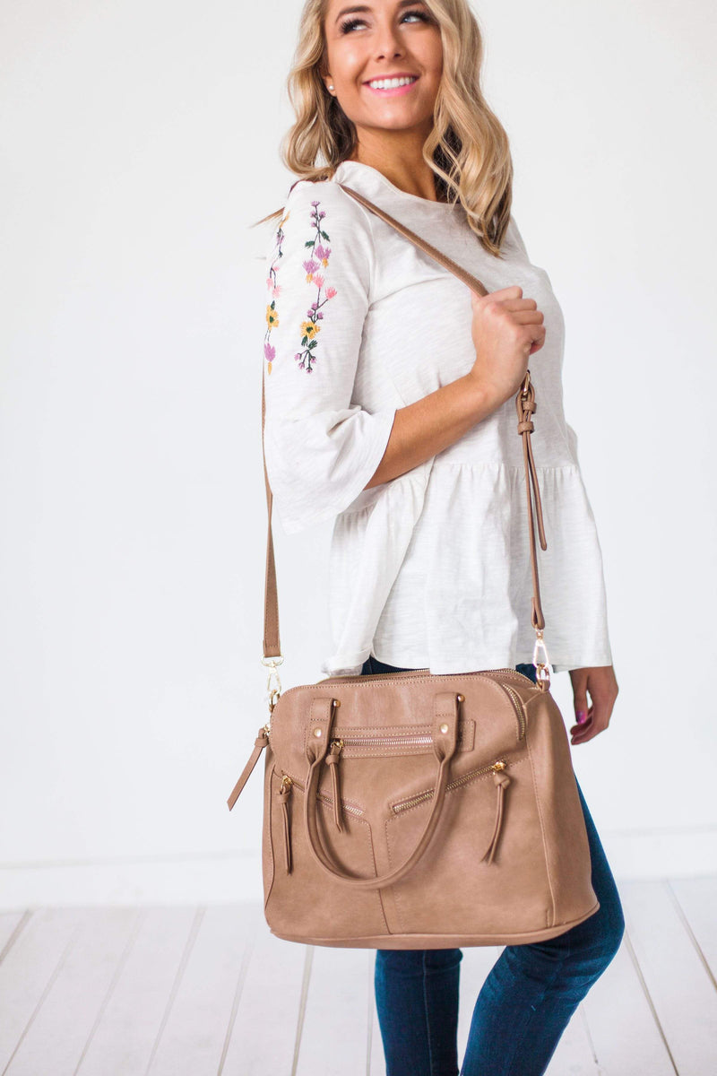 Accessories Uptown Handbag Taupe