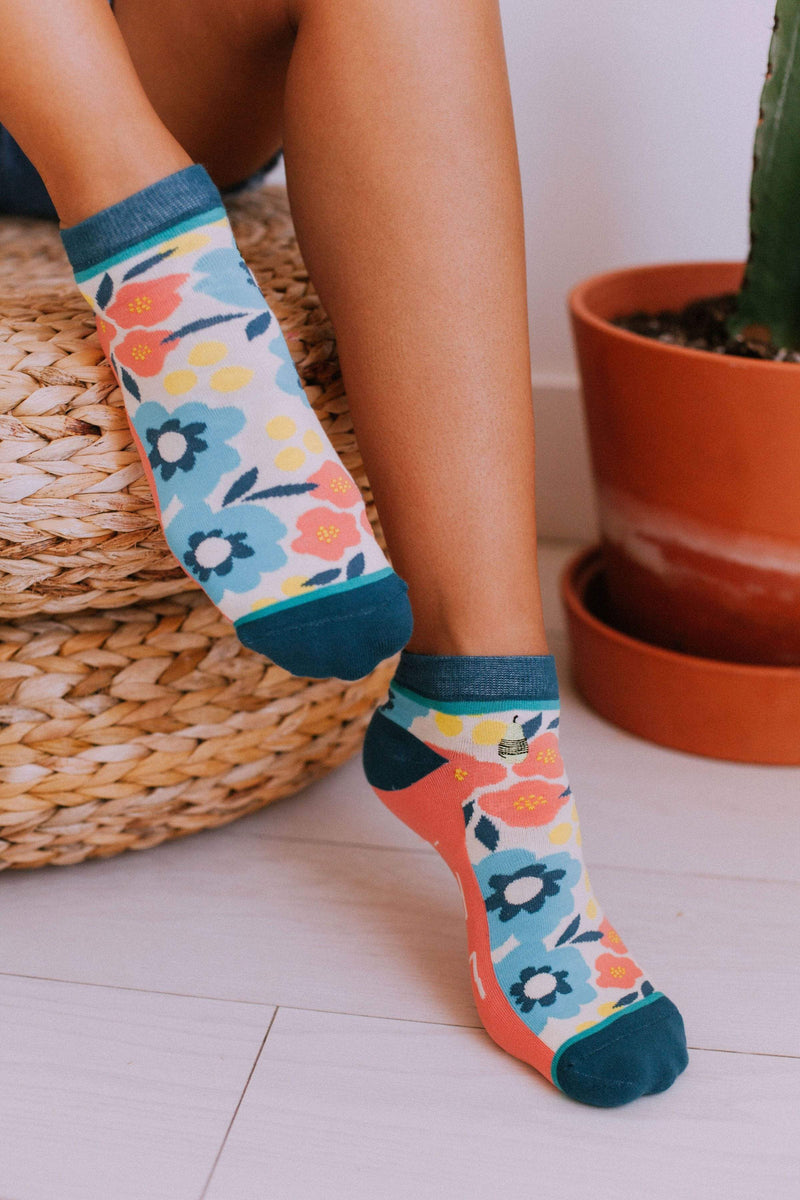 Accessories Woven Pear Ankle Socks Floral