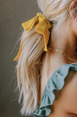 Accessories Yellow Tie Scrunchie