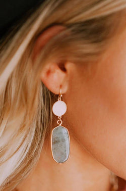 Accessories You're a Gem Earrings Grey