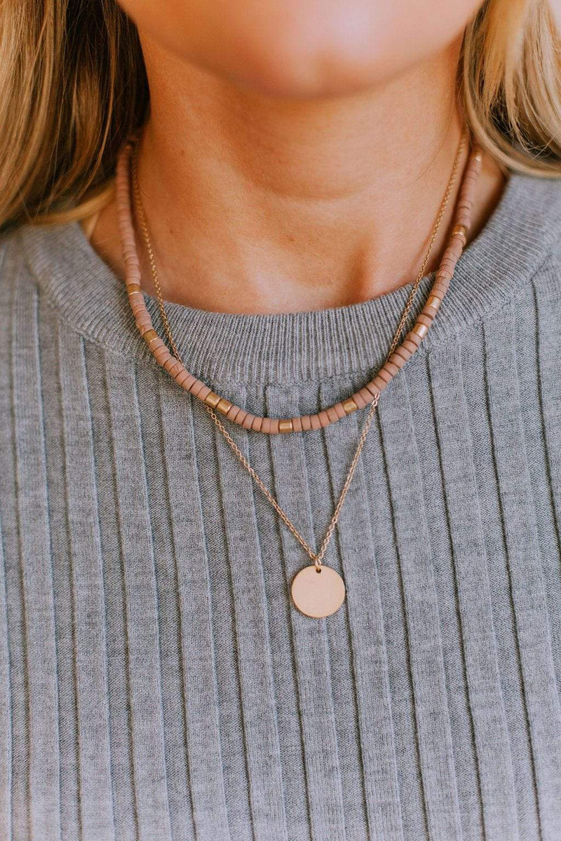 Accessories You're My Favorite Necklace Set Mauve