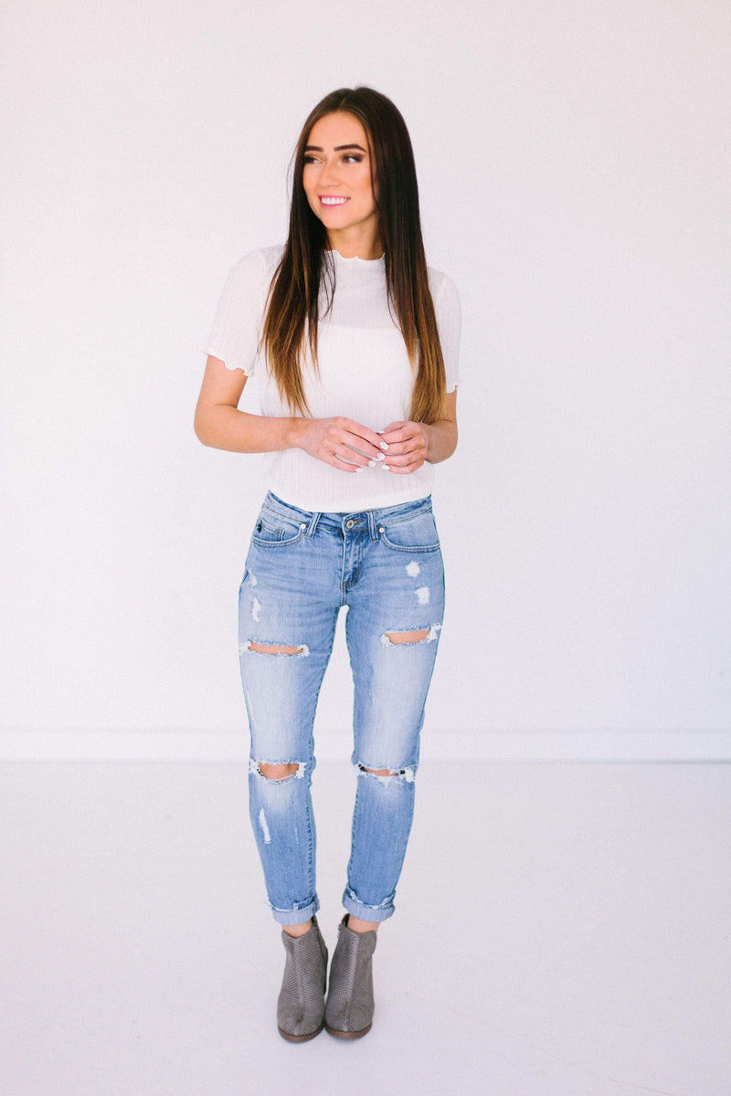 Bottoms Avery Distressed Skinny Jeans