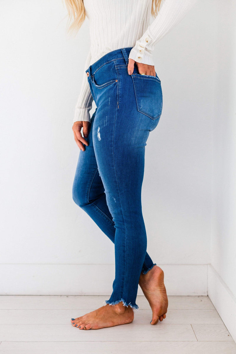 Bottoms Belinda Raw Hem Jeans