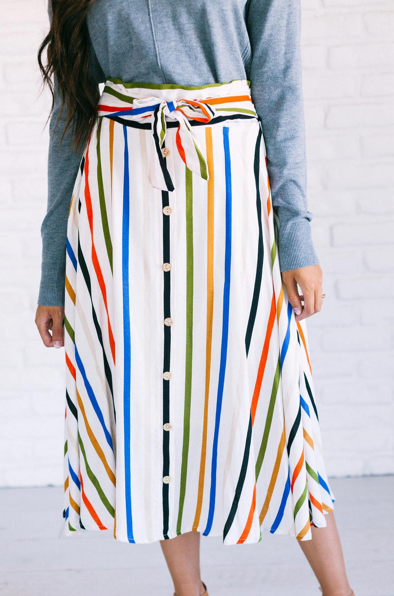Bottoms Freda Striped Skirt