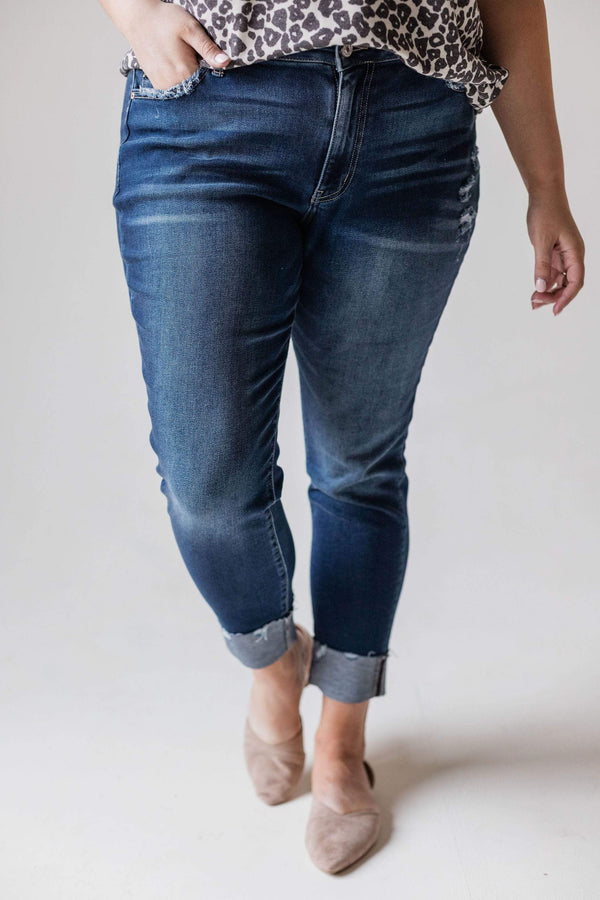 Bottoms Hadley High Rise Folded Skinny Jean Plus