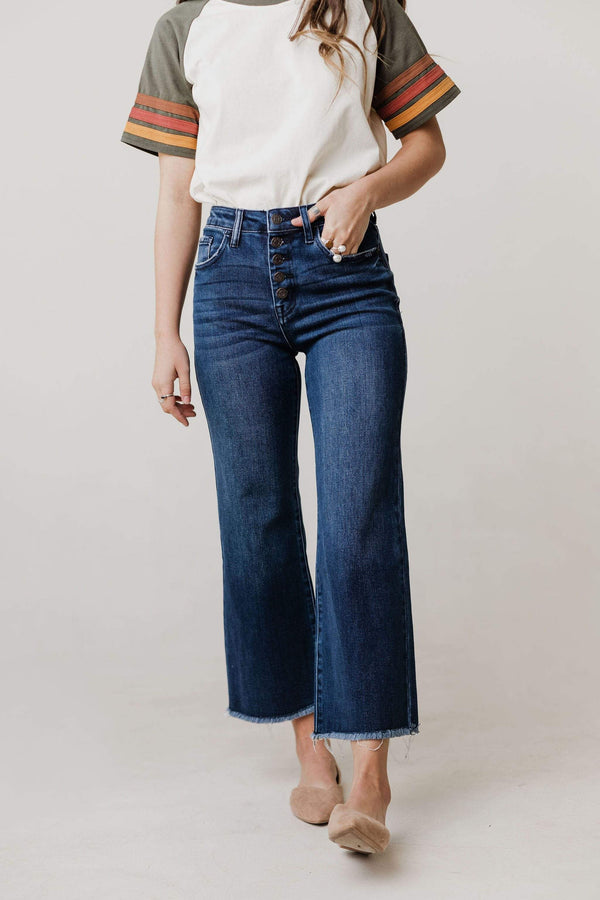Bottoms Jinnie High Rise Crop Button Fly Wide Pants