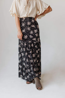 Bottoms Kinsley Floral Tiered Skirt