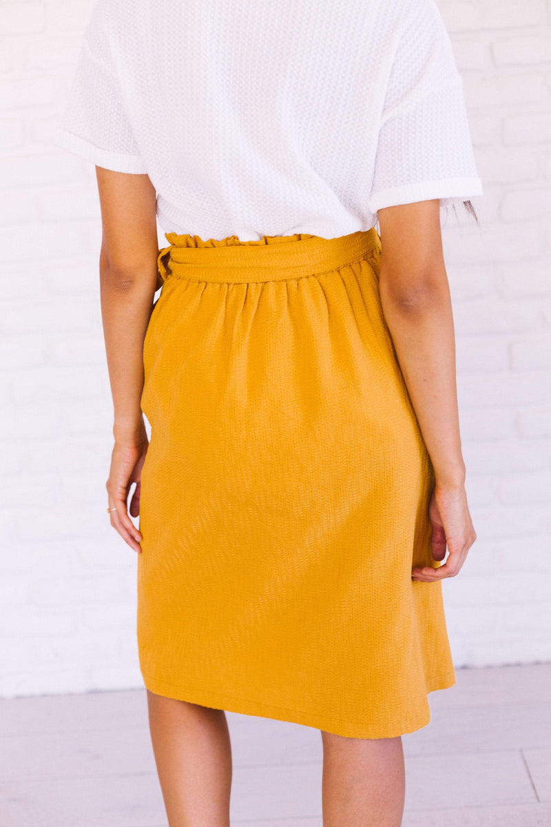 Bottoms Lee Button Skirt Mustard
