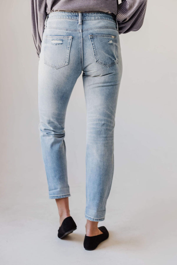 Bottoms Mandi Mid Rise Relaxed Skinny Jean Light