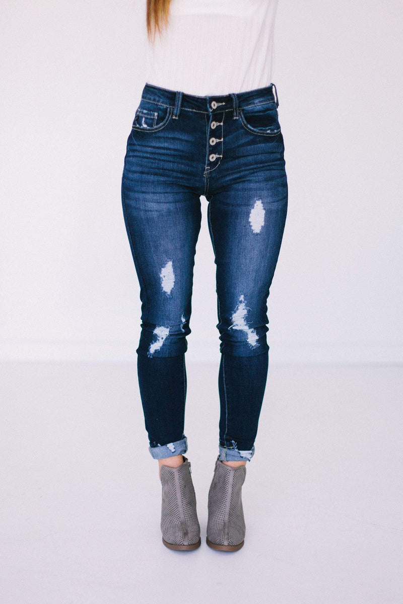 Bottoms Maya Distressed Jeans