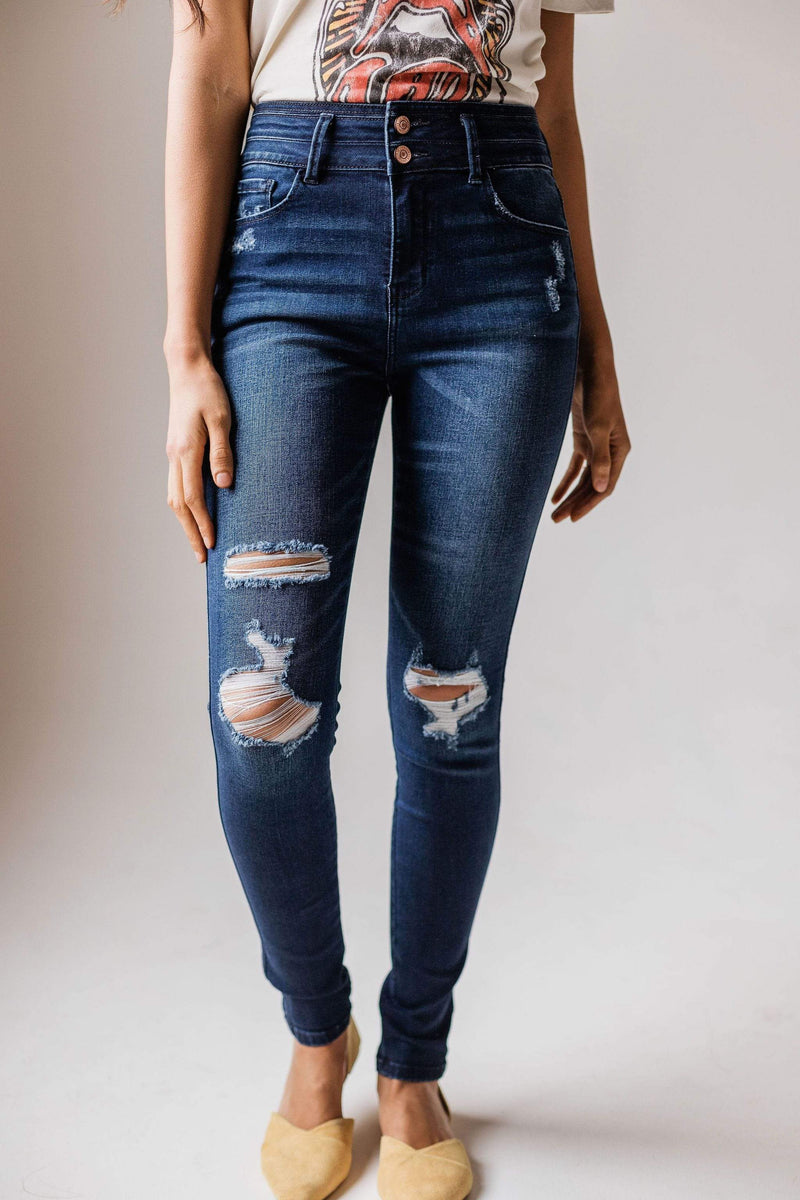 Bottoms Saylor High Rise Distressed Skinny Jean