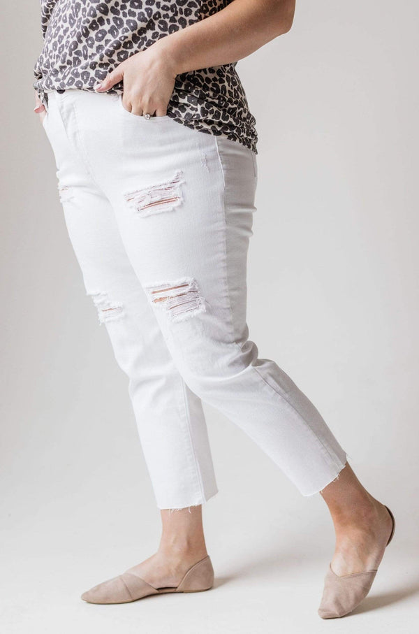 Bottoms Tally Distressed Skinny Jean Plus