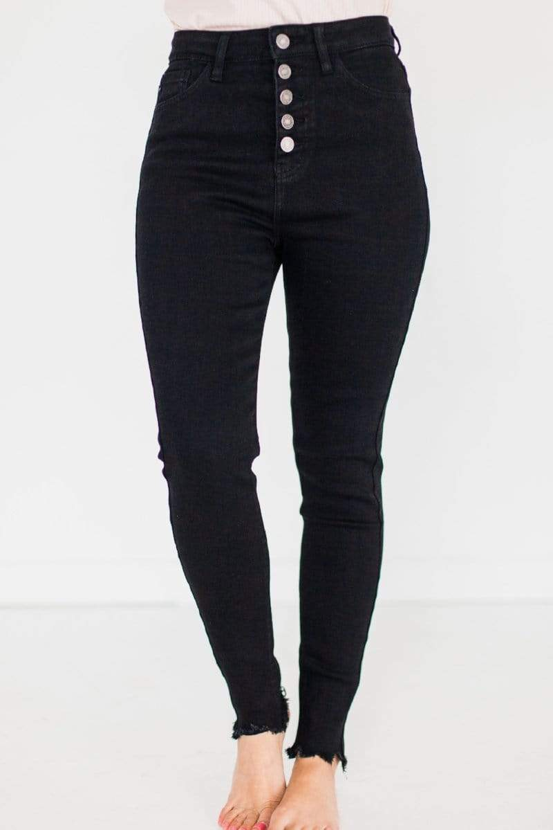 Bottoms Theo High Waisted Jeans Black
