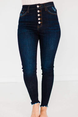 Bottoms Theo High Waisted Jeans Blue