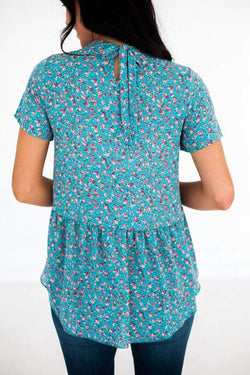 Briella Floral Top Blue Small