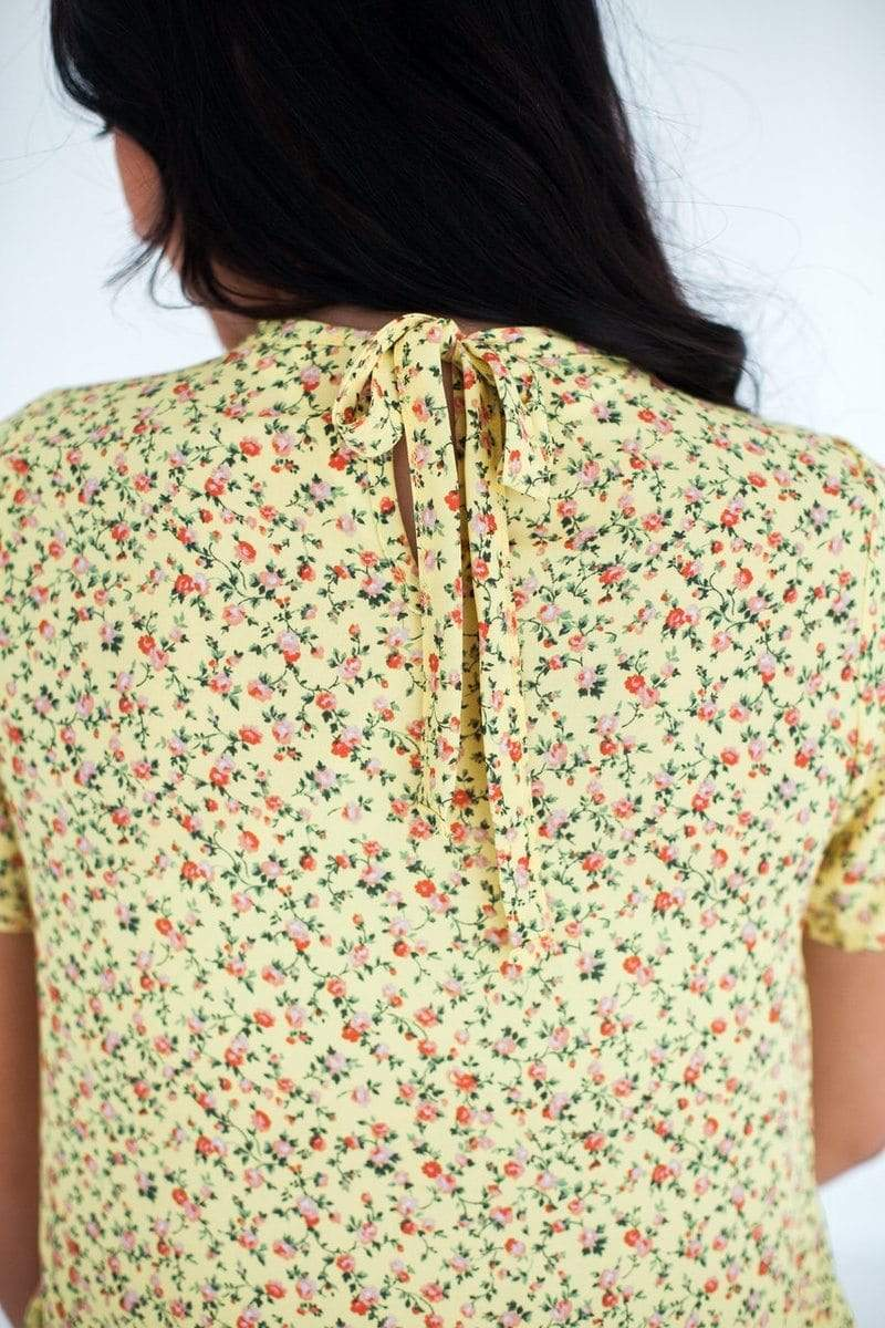 Briella Floral Top Yellow