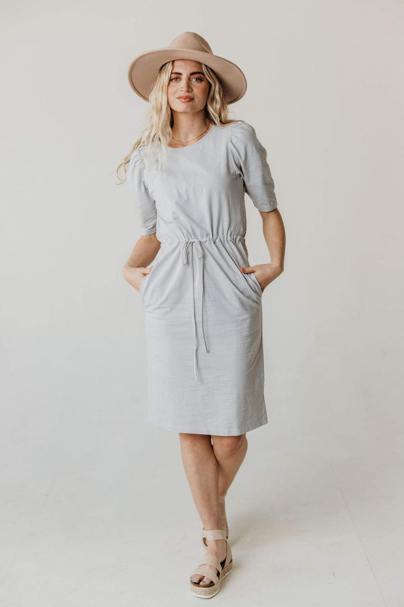Dresses Adora Polka Dot Knit Dress Grey