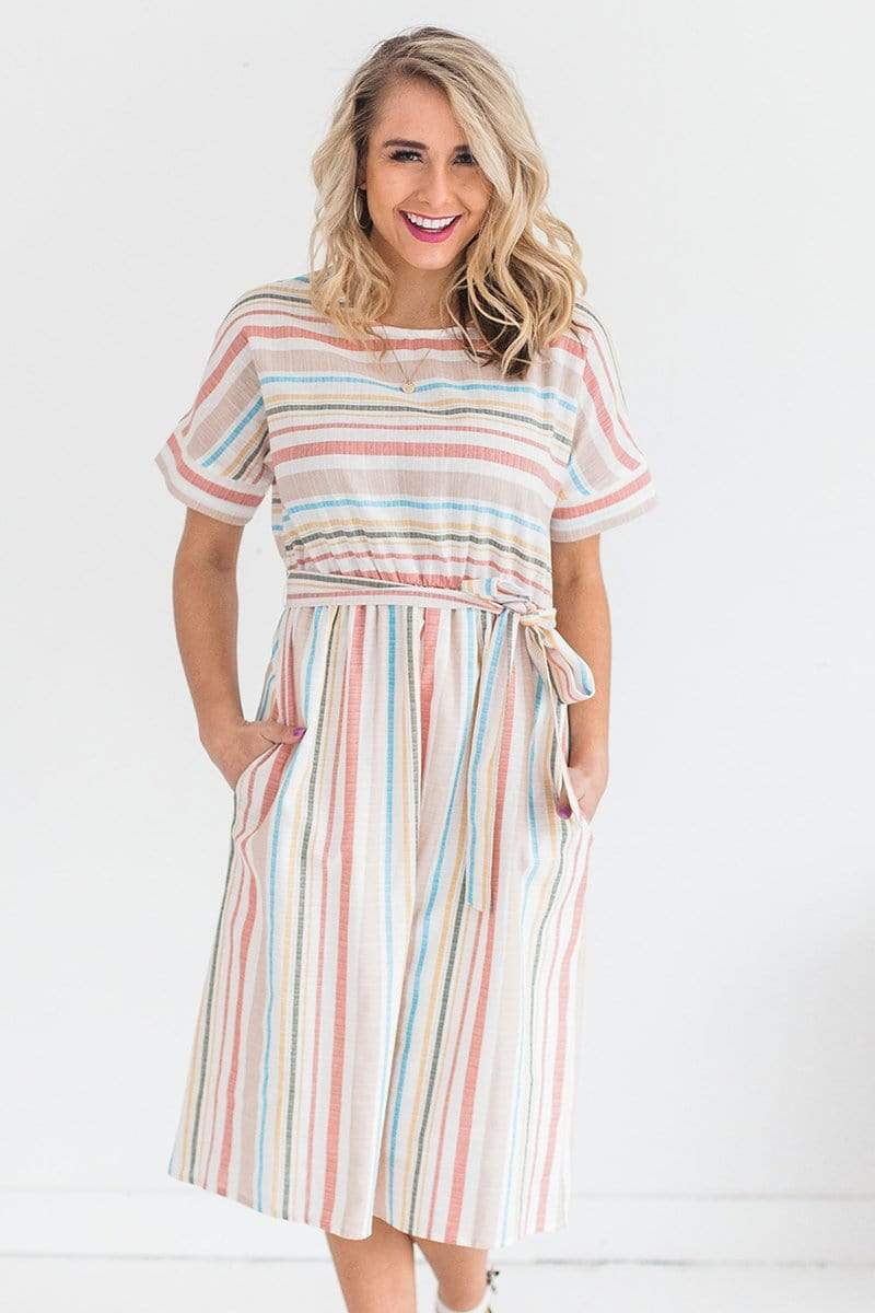 Dresses Alice Striped Dress Ivory
