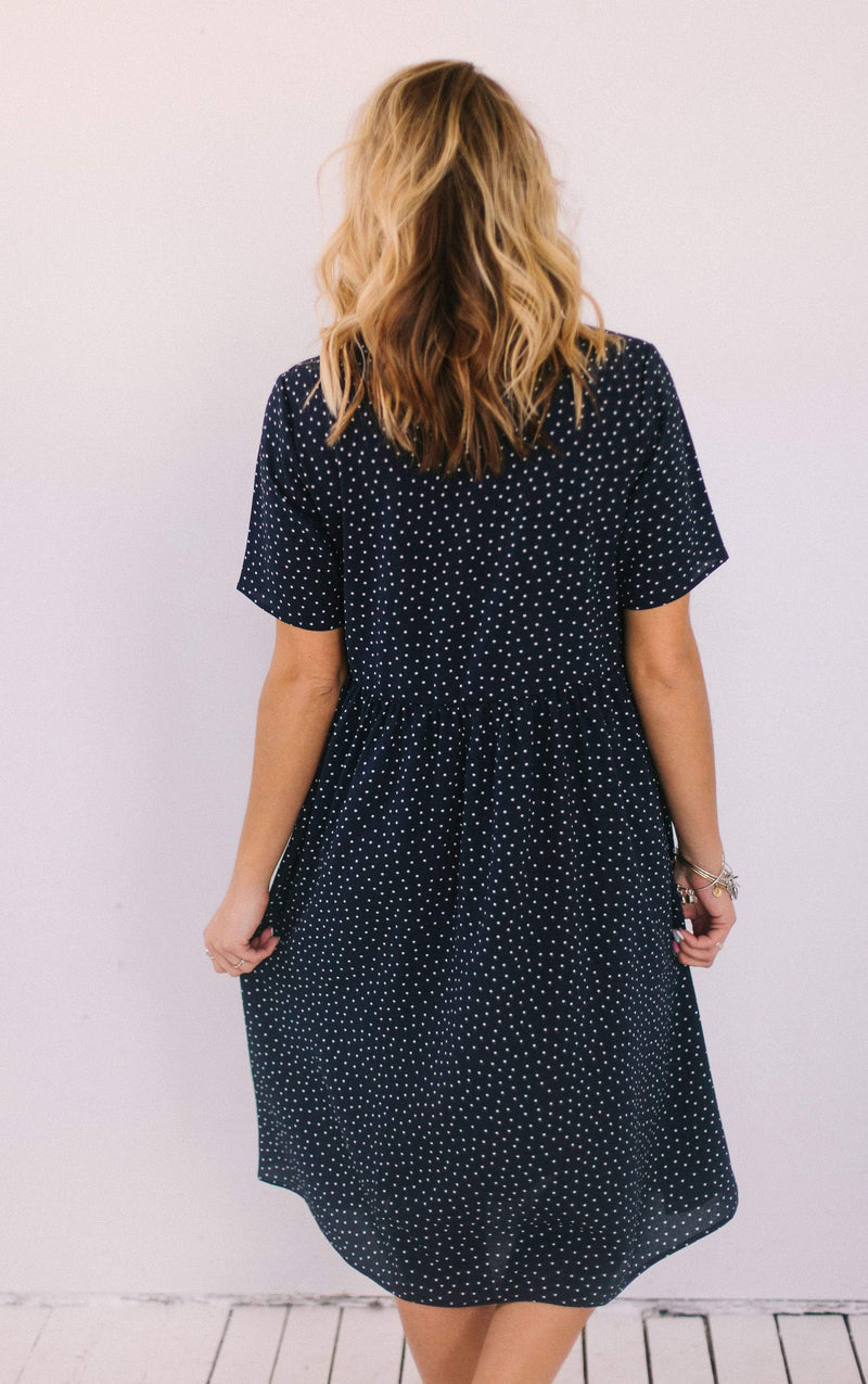 Dresses Aspen Polka Dot Dress Navy