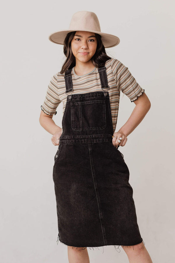 Dresses Brinley Denim Overall Dress Black