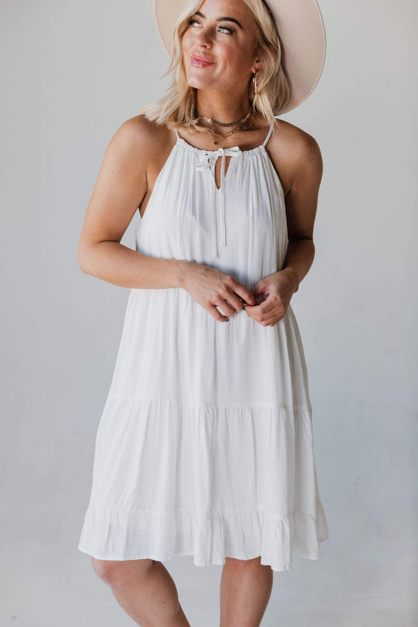 Dresses Calia Tiered Tank Dress Ivory
