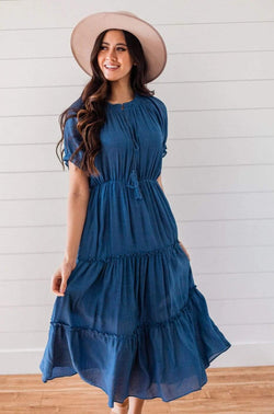 Dresses Camila Tiered Dress Blue