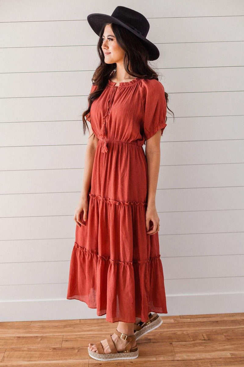 Dresses Camila Tiered Dress Rust