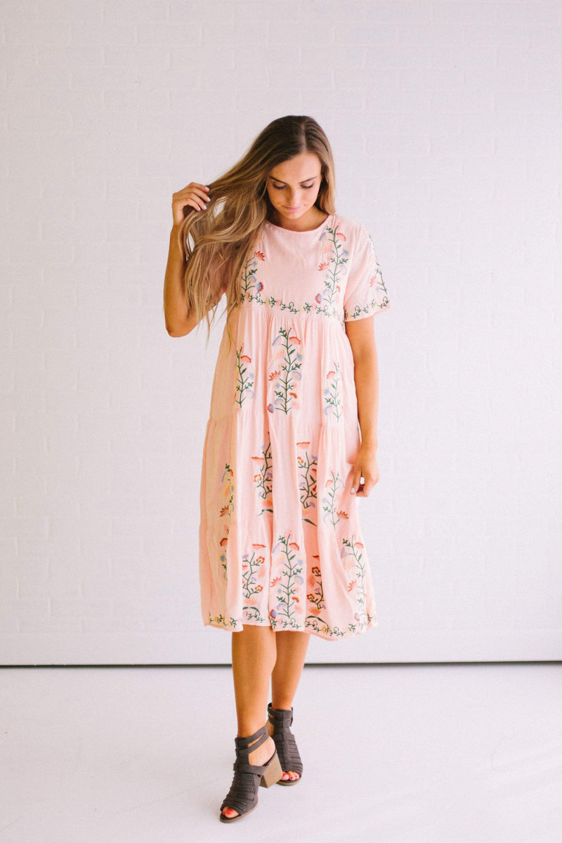 Dresses Cecily Embroidered Dress Blush