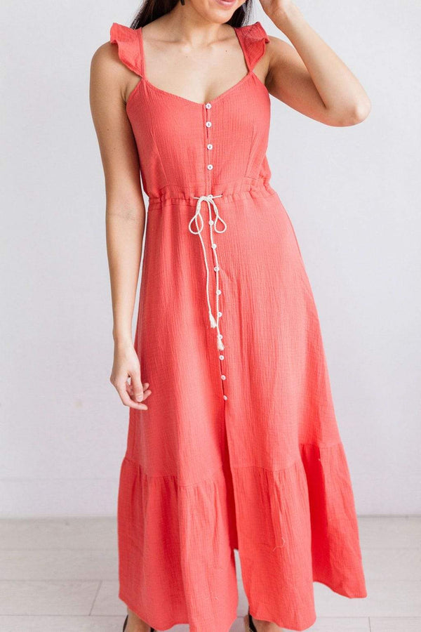 Dresses Courtney Boho Dress Coral