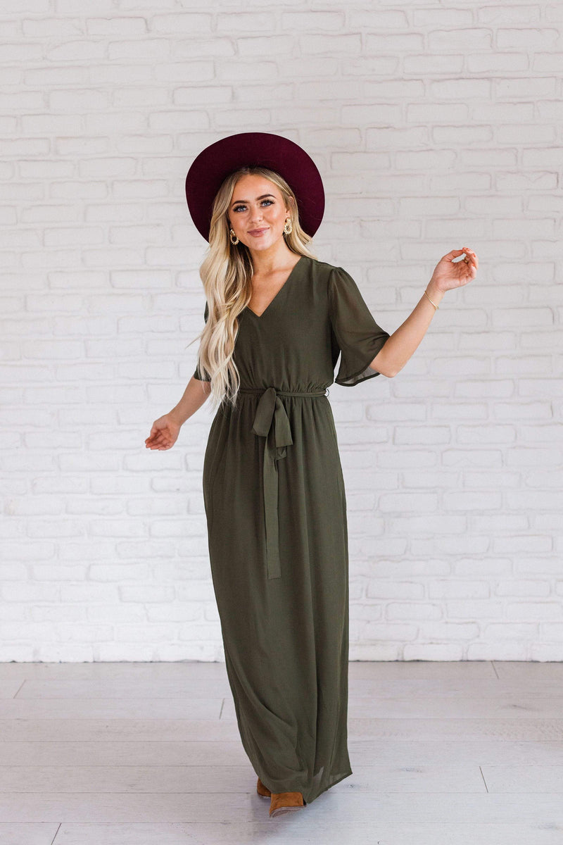 Dresses Eliza Maxi Dress Olive