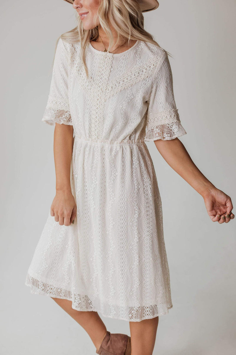 Dresses EXCLUSIVE! Janessa Lace Dress Cream