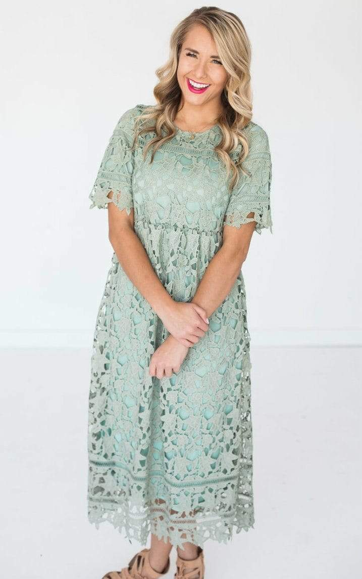 Dresses Gabrielle Lace Dress Sage