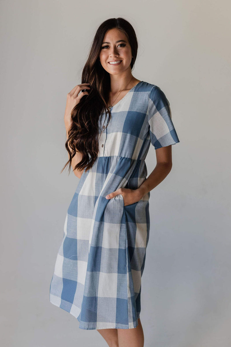 Dresses Georgia Plaid Dress Blue