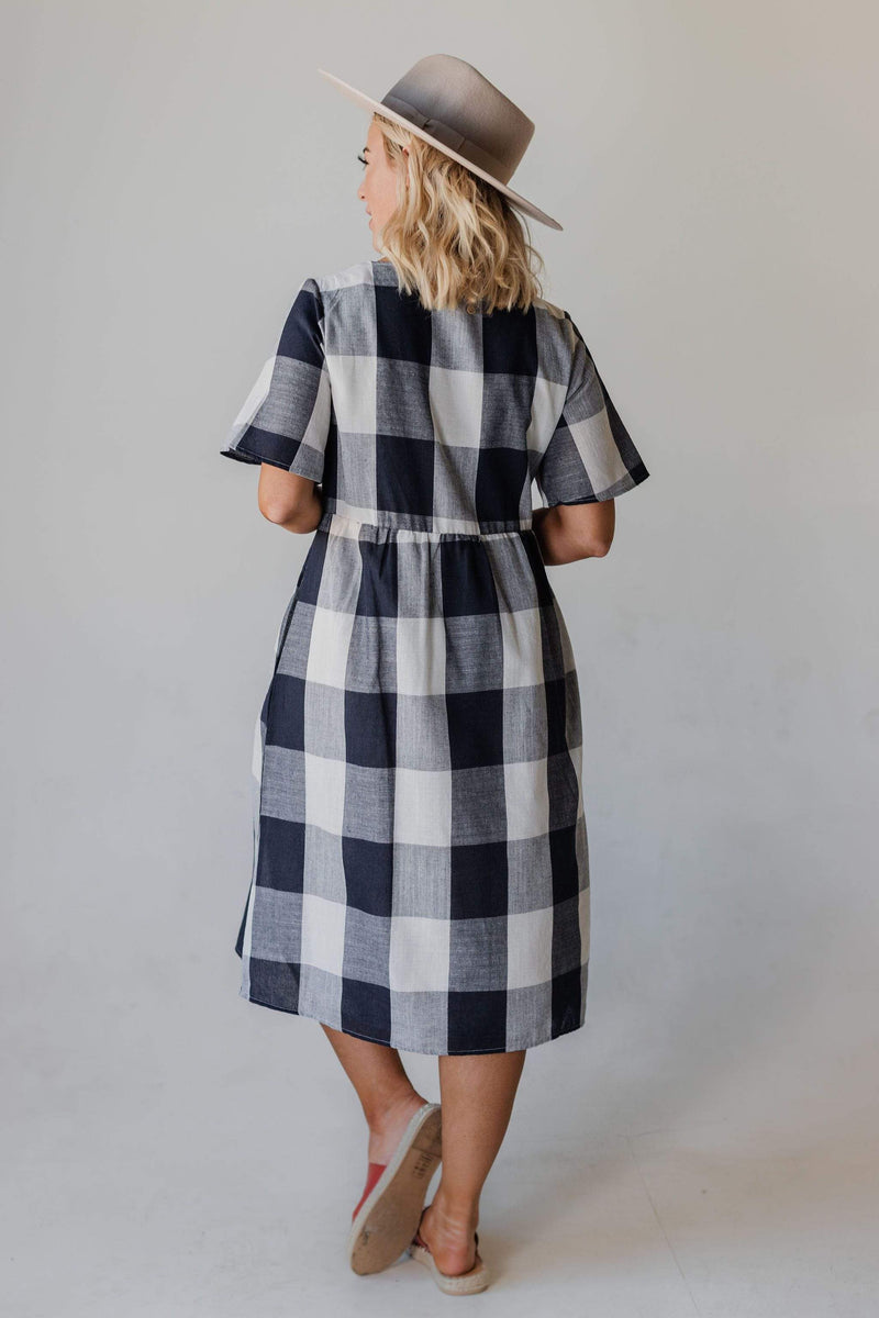 Dresses Georgia Plaid Dress Navy
