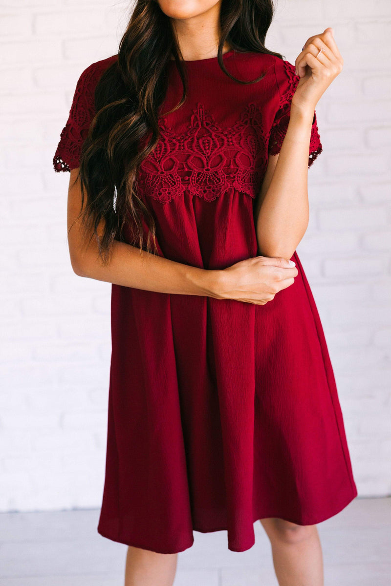Dresses Irene Lace Dress Cranberry