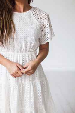 Dresses Isla Eyelet Dress White