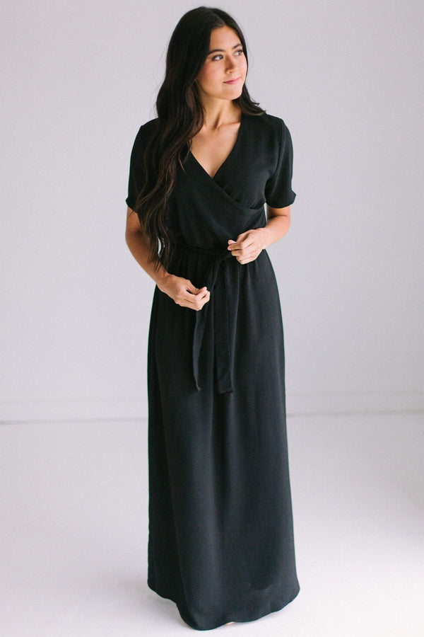Dresses Jessi Wrap Maxi Dress Black