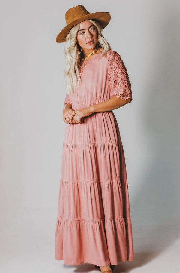 Dresses Juliana Eyelet Sleeve Dress Mauve